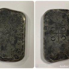 Monedas de España: LINGOTE DE PLATA DE 75 GR. SELLOS. FELIPE V. VER FOTOS. Lote 183670446