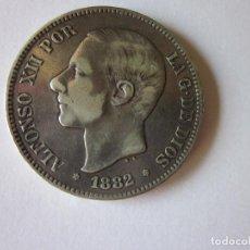 Monedas de España: CINCO PESETAS DE ALFONSO XII. 1882. SOBRE 81. *18-81. PLATA.. Lote 183766136