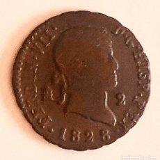 Monedas de España: 2 MARAVEDIS 1828 CECA DE SEGOVIA FERNANDO VII. Lote 167555552
