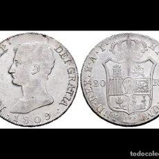 Monedas de España: 20 REALES JOSE NAPOLEON 1809 MADRID A.I.. Lote 183864116