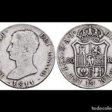 Monedas de España: 20 REALES JOSE NAPOLEON 1811 MADRID A.I.. Lote 183864162