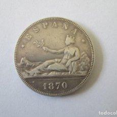 Monedas de España: GOBIERNO PROVISIONAL * 5 PESETAS 1870*70 SN M * PLATA. Lote 183936272