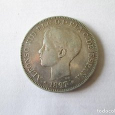 Monedas de España: ALFONSO XIII * 1 PESO 1897 SG V FILIPINAS * PLATA. Lote 183992652
