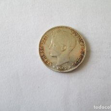Monedas de España: ALFONSO XIII * 1 PESETA 1902*02 SM V * PLATA. Lote 184168496