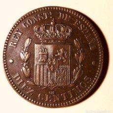 Monedas de España: 10 CÉNTIMOS ALFONSO XII 1878 EBC +. Lote 144809402