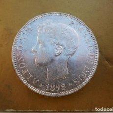 Monedas de España: ESPAÑA 5 PESETAS AÑO 1898 ESTRELLAS VISIBLES 18 98 ALFONSO XIII PLATA . Lote 184274808