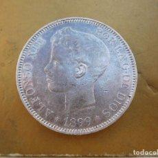 Monedas de España: ESPAÑA 5 PESETAS AÑO 1899 ESTRELLAS VISIBLES 18 99 ALFONSO XIII PLATA . Lote 184275231