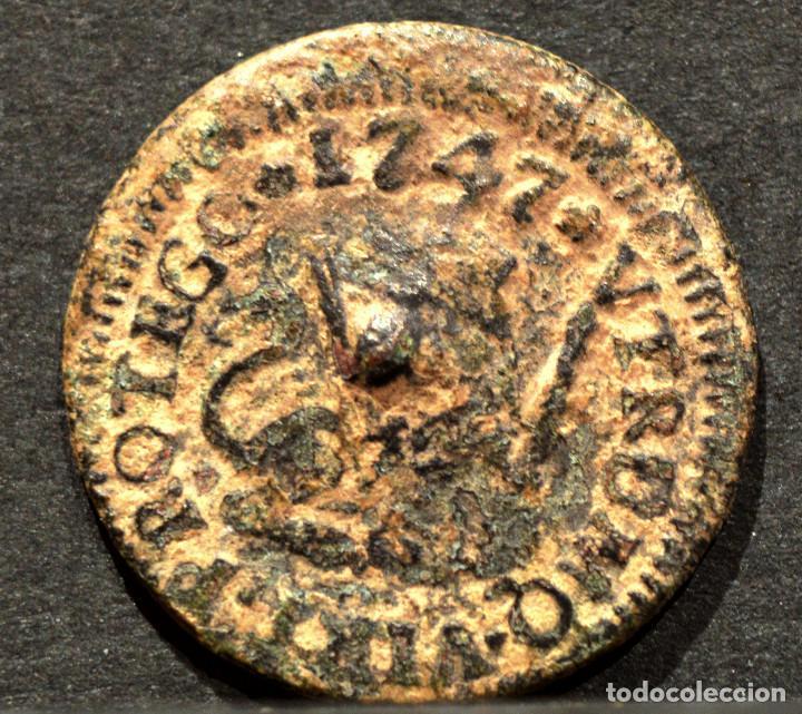 Monedas de España: 1 MARAVEDI SEGOVIA 1747 MARAVEDIS FERNANDO VI ESPAÑA - Foto 2 - 55345093