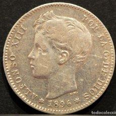 Monedas de España: 1 PESETA 1896 *18 *96 PGV ALFONSO XIII PLATA ESPAÑA. Lote 52071807