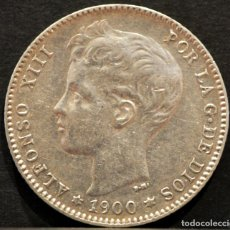 Monedas de España: 1 PESETA 1900 *19 *00 SMV PLATA ESPAÑA. Lote 52078257