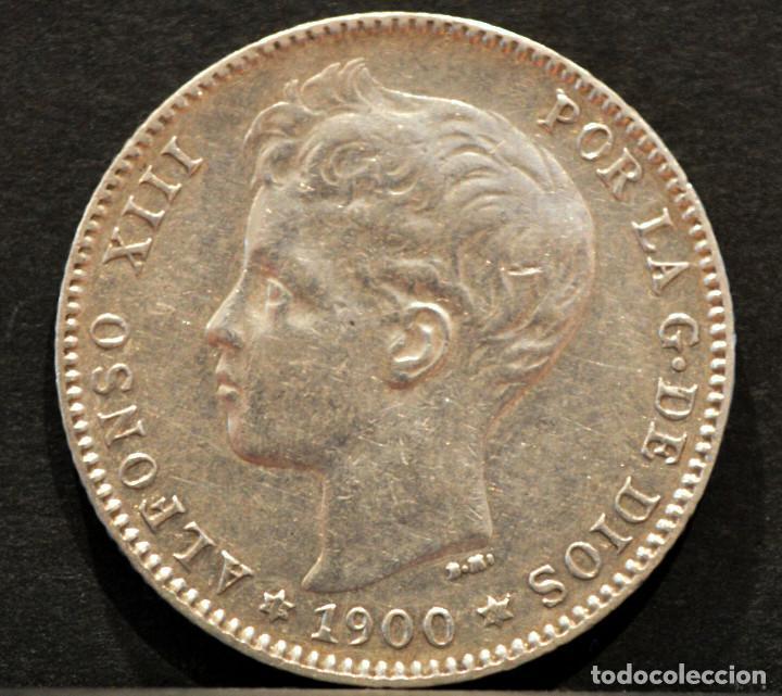 Monedas de España: 1 PESETA 1900 *19 *00 SMV PLATA ESPAÑA - Foto 2 - 52078257