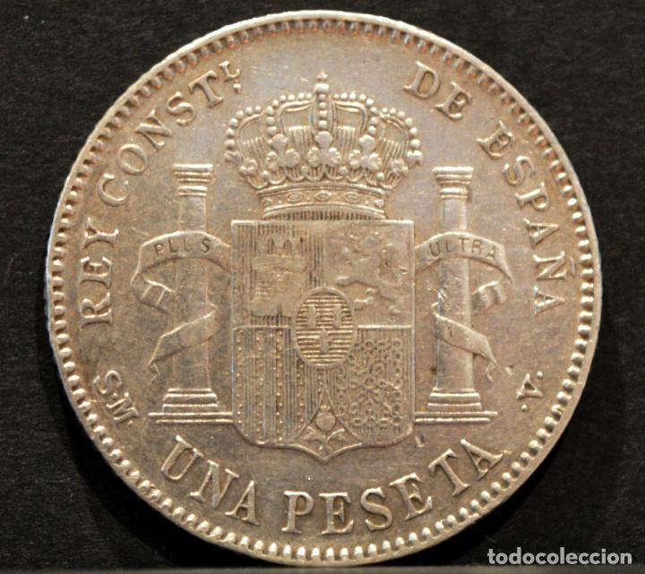 Monedas de España: 1 PESETA 1900 *19 *00 SMV PLATA ESPAÑA - Foto 3 - 52078257