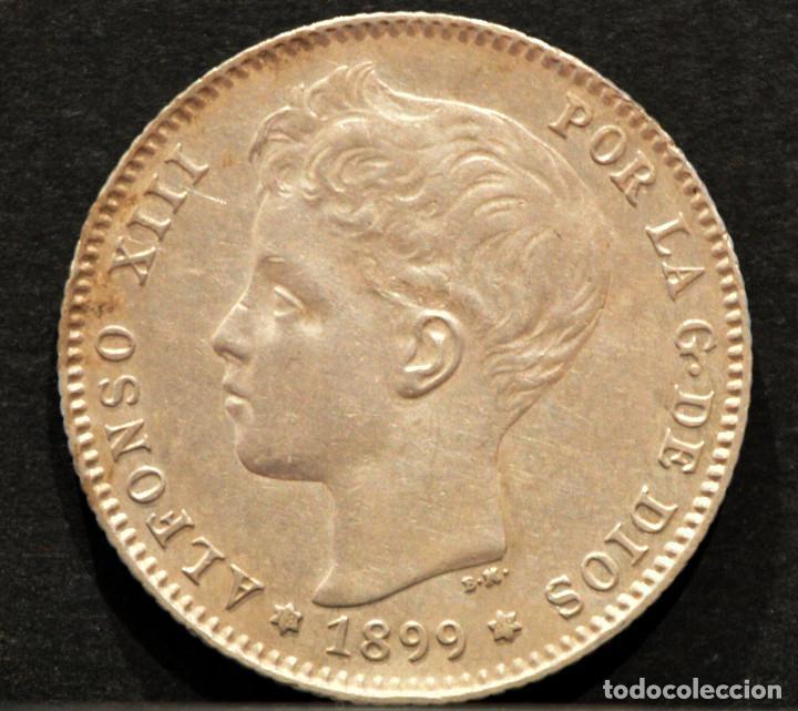 Monedas de España: 1 PESETA 1899 *18 *99 SGV ALFONSO XIII PLATA ESPAÑA - Foto 2 - 52071173