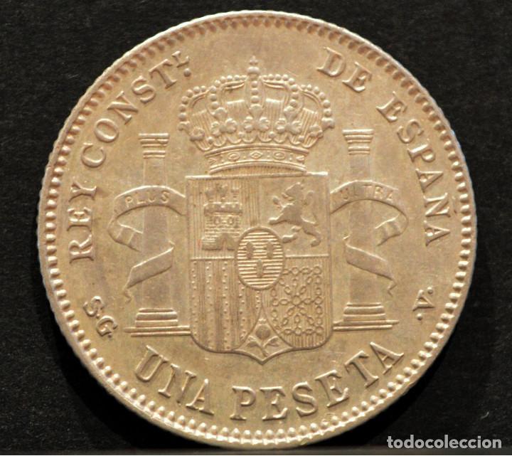 Monedas de España: 1 PESETA 1899 *18 *99 SGV ALFONSO XIII PLATA ESPAÑA - Foto 3 - 52071173