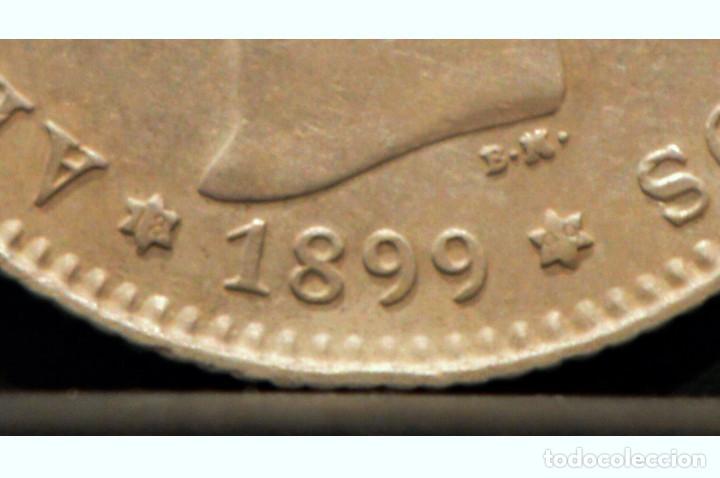 Monedas de España: 1 PESETA 1899 *18 *99 SGV ALFONSO XIII PLATA ESPAÑA - Foto 4 - 52071173