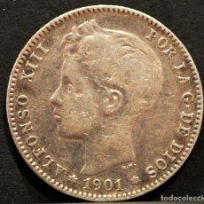Monedas de España: 1 PESETA 1901 *19 *01 SMV PLATA ESPAÑA. Lote 52077385