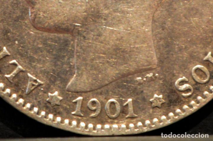 Monedas de España: 1 PESETA 1901 *19 *01 SMV PLATA ESPAÑA - Foto 4 - 52077385