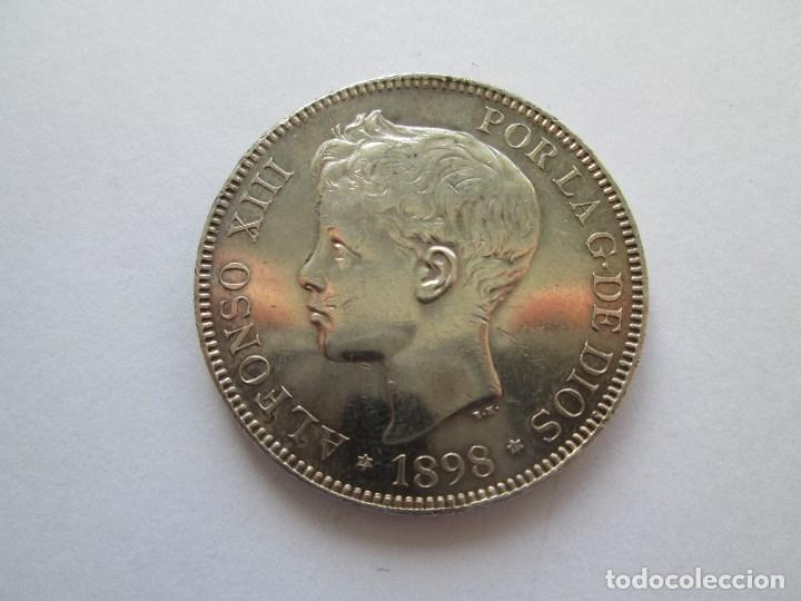 ALFONSO XIII * 5 PESETAS 1898*98 SG V * PLATA (Numismática - España Modernas y Contemporáneas - De Isabel II (1.834) a Alfonso XIII (1.931))