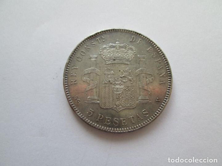 Monedas de España: ALFONSO XIII * 5 PESETAS 1898*98 SG V * PLATA - Foto 2 - 184381011