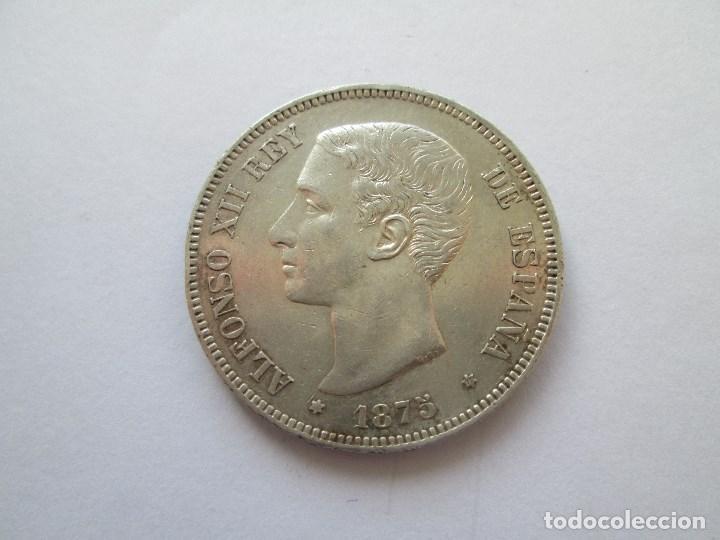 ALFONSO XII * 5 PESETAS 1875*75 DE M * PLATA (Numismática - España Modernas y Contemporáneas - De Isabel II (1.834) a Alfonso XIII (1.931))