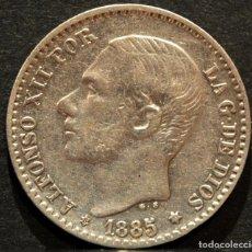 Monedas de España: 50 CÉNTIMOS 1885 *8 *6 ALFONSO XII ESPAÑA PLATA. Lote 58496815