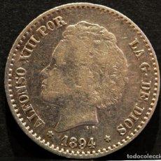 Monedas de España: 50 CÉNTIMOS 1894 *8 *4 P.G.V ALFONSO XIII ESPAÑA PLATA. Lote 58496834
