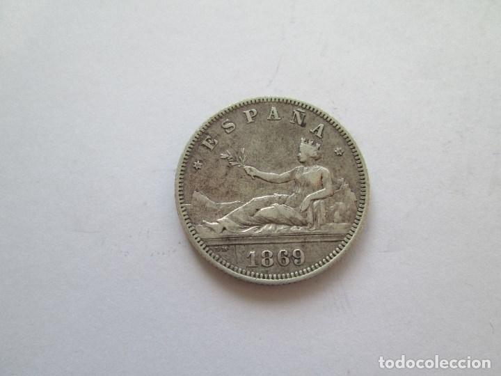 GOBIERNO PROVISIONAL * 2 PESETAS 1869*69 SN M * PLATA (Numismática - España Modernas y Contemporáneas - De Isabel II (1.834) a Alfonso XIII (1.931))