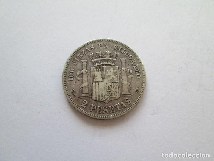 Monedas de España: GOBIERNO PROVISIONAL * 2 PESETAS 1869*69 SN M * PLATA - Foto 2 - 184475961