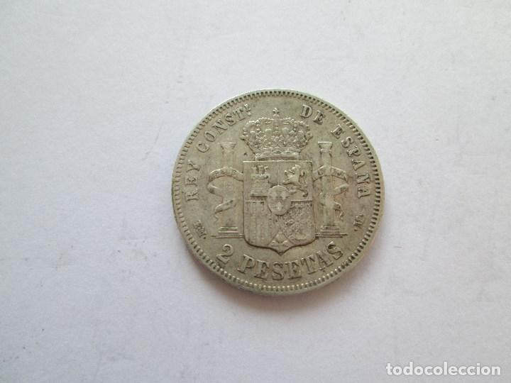 Monedas de España: ALFONSO XII * 2 PESETAS 1879*79 EM M * PLATA - Foto 2 - 184476432