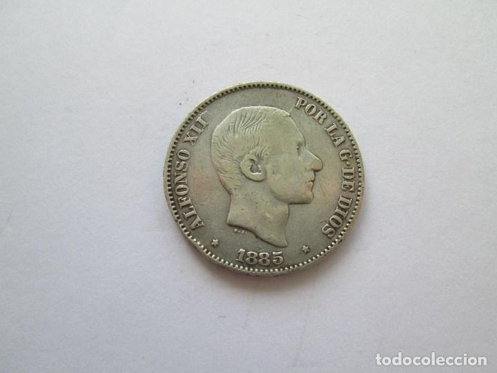ALFONSO XII * 50 CENTAVOS DE PESO 1885 FILIPINAS * PLATA (Numismática - España Modernas y Contemporáneas - De Isabel II (1.834) a Alfonso XIII (1.931))