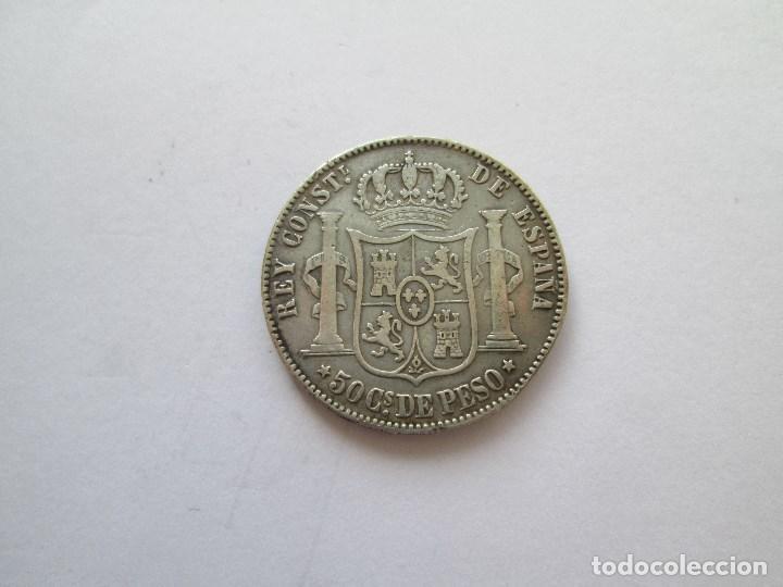 Monedas de España: ALFONSO XII * 50 CENTAVOS DE PESO 1885 FILIPINAS * PLATA - Foto 2 - 184478756