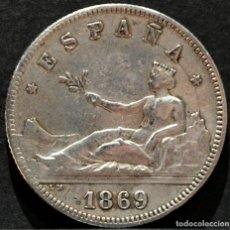Monedas de España: 2 PESETAS 1869 *18* 69 GOBIERNO PROVISIONAL PLATA ESPAÑA. Lote 52015048