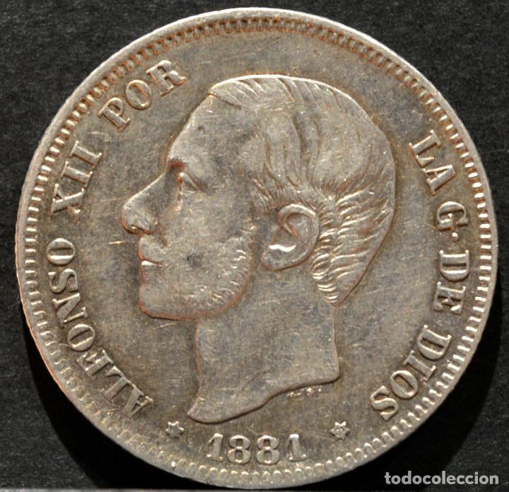 Monedas de España: 2 PESETAS 1881 *--*81 ALFONSO XII PLATA ESPAÑA - Foto 2 - 52015219