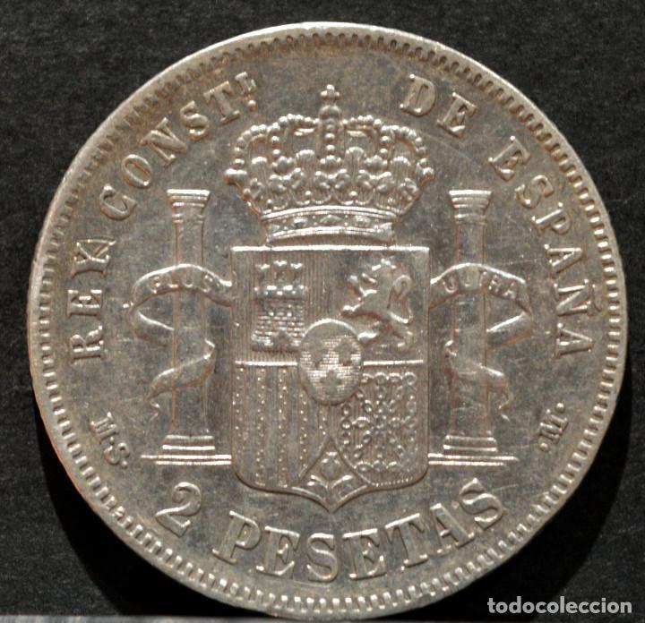 Monedas de España: 2 PESETAS 1881 *--*81 ALFONSO XII PLATA ESPAÑA - Foto 3 - 52015219