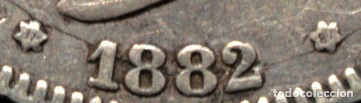 Monedas de España: 2 PESETAS 1882 *18 *82 ALFONSO XII PLATA ESPAÑA - Foto 4 - 52014257