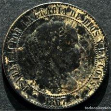 Monedas de España: 2 ½ CÉNTIMOS DE ESCUDO 1867 BARCELONA ISABEL II. Lote 84710740