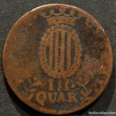 Monedas de España: III QUARTOS 1810 CUARTOS BARCELONA. Lote 69614333