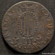 Monedas de España: III QUARTOS 1812 CUARTOS BARCELONA. Lote 69614437