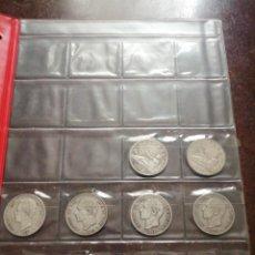 Monedas de España: 10 MONEDAS DE 5 PESETAS DE PLATA. GOBIERNO PROVISIONAL, AMADEO I, ALFONSO XII Y ALFONSO XIII.. Lote 184611260