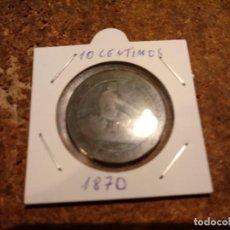 Monedas de España: MONEDA DE 10 CENTIMOS 1870. Lote 184709093