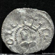 Monedas de España: DINERO DE BARCELONA JUANA Y CARLOS VELLON PLATA ESPAÑA. Lote 182229655