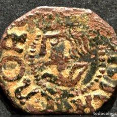 Monedas de España: CURIOSO DINERO DE BARCELONA JUANA Y CARLOS FALSO DE EPOCA 1516-1555. Lote 58665707