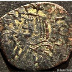 Monedas de España: CURIOSO DINERO DE BARCELONA JUANA Y CARLOS FALSO DE EPOCA 1516-1555. Lote 58665714