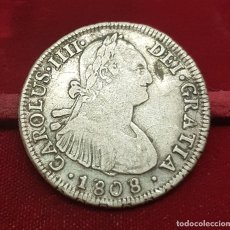Monedas de España: ESPAÑA 4 REALES - CARLOS IIII 1808 FJ SANTIAGO CHILE KM 60 PLATA. Lote 184759153