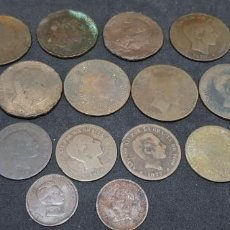 Monedas de España: ALFONSO XII Y XIII LOTE 16 MONEDAS DE COBRE. Lote 184871651