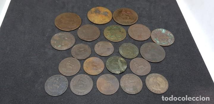 GOBIERNO PROVISIONAL LOTE 21 MONEDAS COBRE (Numismática - España Modernas y Contemporáneas - De Isabel II (1.834) a Alfonso XIII (1.931))