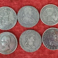 Monedas de España: COLECCIÓN DE 14 MONEDAS. REPRODUCCIONES EN PLATA Y METAL DORADO. SIGLO XX. Lote 185678146