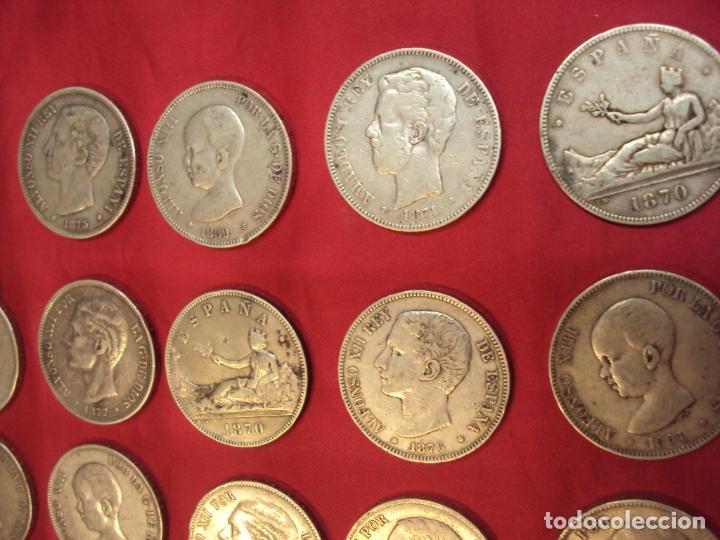 Monedas de España: LOTE 21 MONEDAS PLATA 5 PESETAS ALFONSO XII XIII PROVISIONAL ETC... - Foto 5 - 185720321