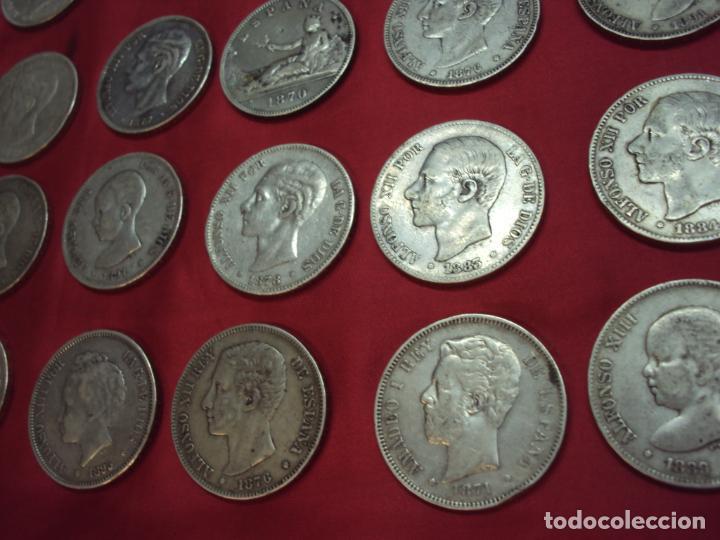 Monedas de España: LOTE 21 MONEDAS PLATA 5 PESETAS ALFONSO XII XIII PROVISIONAL ETC... - Foto 6 - 185720321