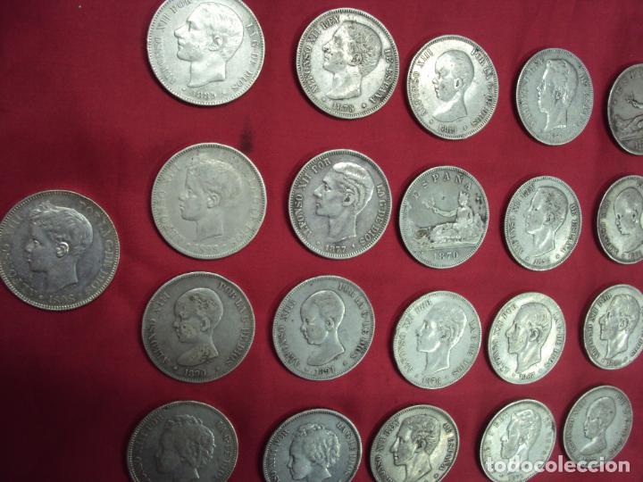 Monedas de España: LOTE 21 MONEDAS PLATA 5 PESETAS ALFONSO XII XIII PROVISIONAL ETC... - Foto 7 - 185720321
